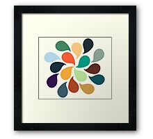 Colorful Water Drops Framed Print