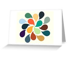 Colorful Water Drops Greeting Card