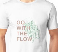 GO WITH THE FLOW - GREEN  Unisex T-Shirt
