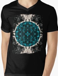 Flower of Life 4/16b Mens V-Neck T-Shirt