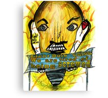 Light Bulb people are angry Canvas Print