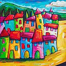 Begur, Spain by ART PRINTS ONLINE         by artist SARA  CATENA