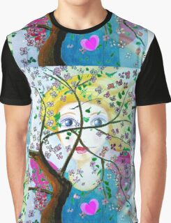 There's an angel behind the blooming tree Graphic T-Shirt