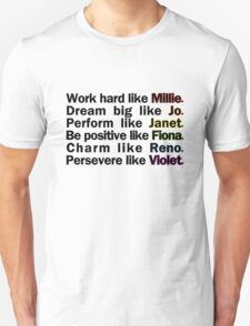 Admirable Characteristics of Sutton Foster Characters   White Unisex T-Shirt