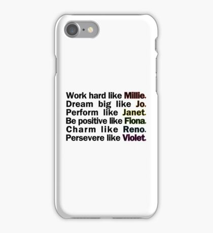 Admirable Characteristics of Sutton Foster Characters | White iPhone Case/Skin