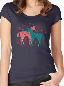 Unicorn Land Women's Fitted Scoop T-Shirt