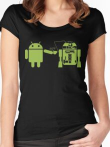 That cross-over Women's Fitted Scoop T-Shirt