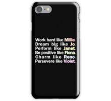 Admirable Characteristics of Sutton Foster Characters | Black iPhone Case/Skin