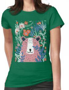 Bear Garden Womens Fitted T-Shirt