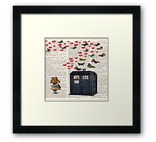 alice tardis police box Framed Print