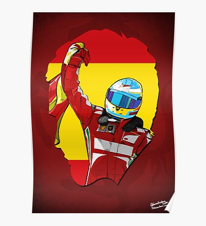 Fernando Alonso/Ferrari Tribute Poster