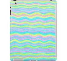 Neon Colors Hand Drawn Psychedelic Stripe Pattern  iPad Case/Skin