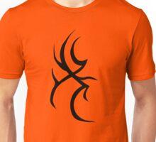 Tribal Design B on Red Unisex T-Shirt