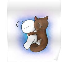Kitty and Cry cuddling Poster