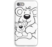 papa child, baby boy, mummy family sweet little cute polar teddy bear sitting funny dick iPhone Case/Skin