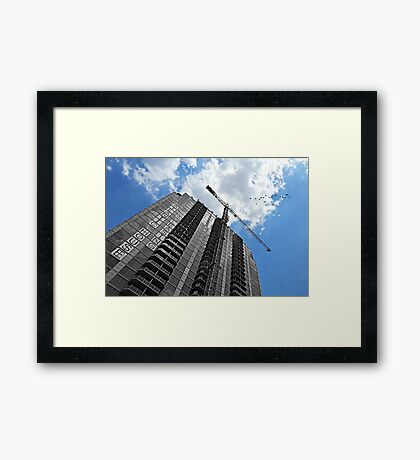 We Build Castles in the Sky Framed Print