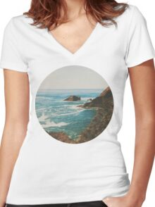 Oregon Coast Women's Fitted V-Neck T-Shirt