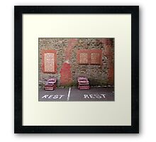 Room with View By a Chimney Framed Print