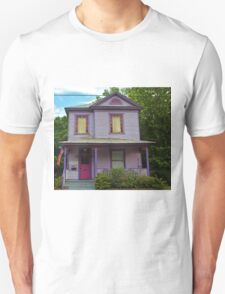 Quirky Purple House Unisex T-Shirt
