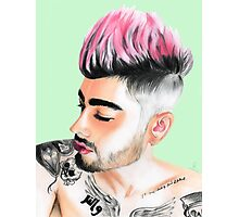 Zayn (Pastel Green) Photographic Print