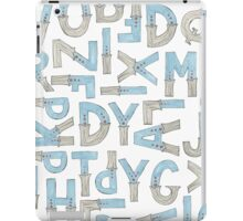 blue alphabet iPad Case/Skin