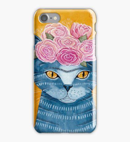 Frida Catlo in Blue iPhone Case/Skin