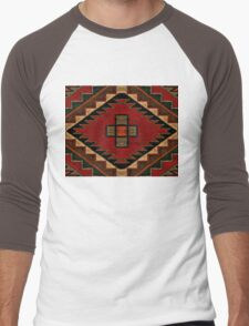 Navajo Vintage Crazy Quilt Men's Baseball ¾ T-Shirt