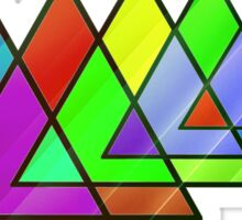Abstract Triangles Sticker