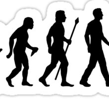 Evolution of Man and Football Sticker