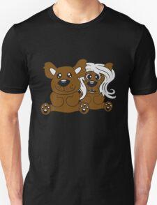 few couple friends love love woman man team Teddy comic cartoon sweet cute T-Shirt