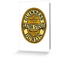 Guinness Extra Stout Dublin Ireland Greeting Card
