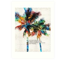 Colorful Palm Trees - Returning Home - By Sharon Cummings Art Print
