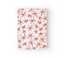 simple red star pattern Hardcover Journal