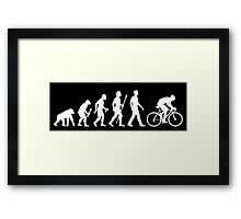 Evolution Of Man Cycling Framed Print