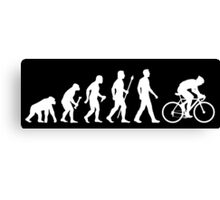 Evolution Of Man Cycling Canvas Print