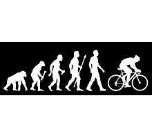 Evolution Of Man Cycling Photographic Print