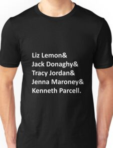 30 Rock Names Unisex T-Shirt