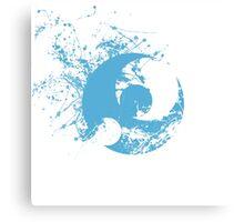Pokemon Moon Logo - Spray Canvas Print