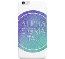 Alpha Sigma Tau iPhone Case/Skin