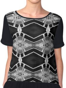 Grey Diamonds Chiffon Top