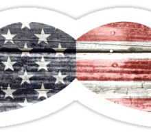 Patriotic, American Flag Mustache Sticker