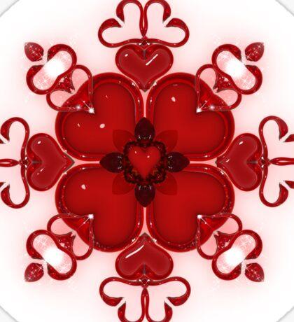 Hearts of Glass Sticker