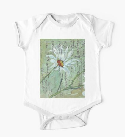 Daisies Postcard 1 One Piece - Short Sleeve