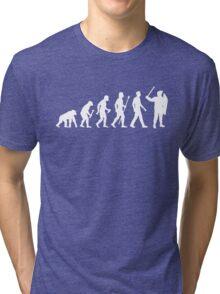 Evolution Of Man Riot Police Tri-blend T-Shirt