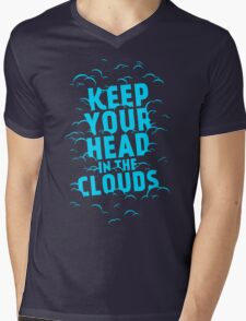 Keep Your Head In The Clouds Mens V-Neck T-Shirt
