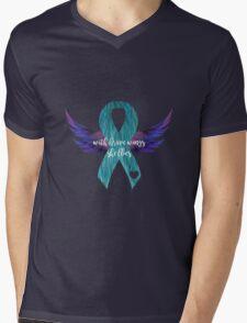 Brave Wings Mens V-Neck T-Shirt