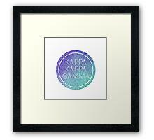 Kappa Kappa Gamma Framed Print
