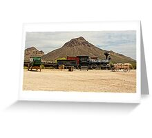 Old Tucson Scene Greeting Card