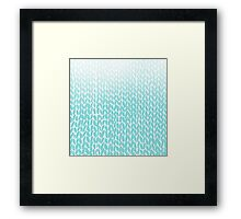 Hand Knit Ombre Teal Framed Print