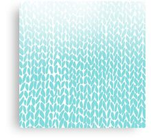 Hand Knit Ombre Teal Canvas Print